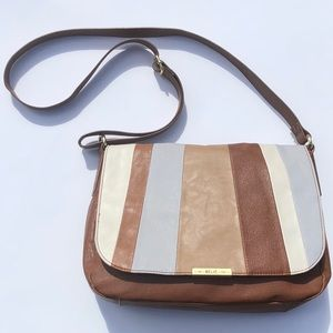 Relic Leather Crossbody Purse Striped Color Block